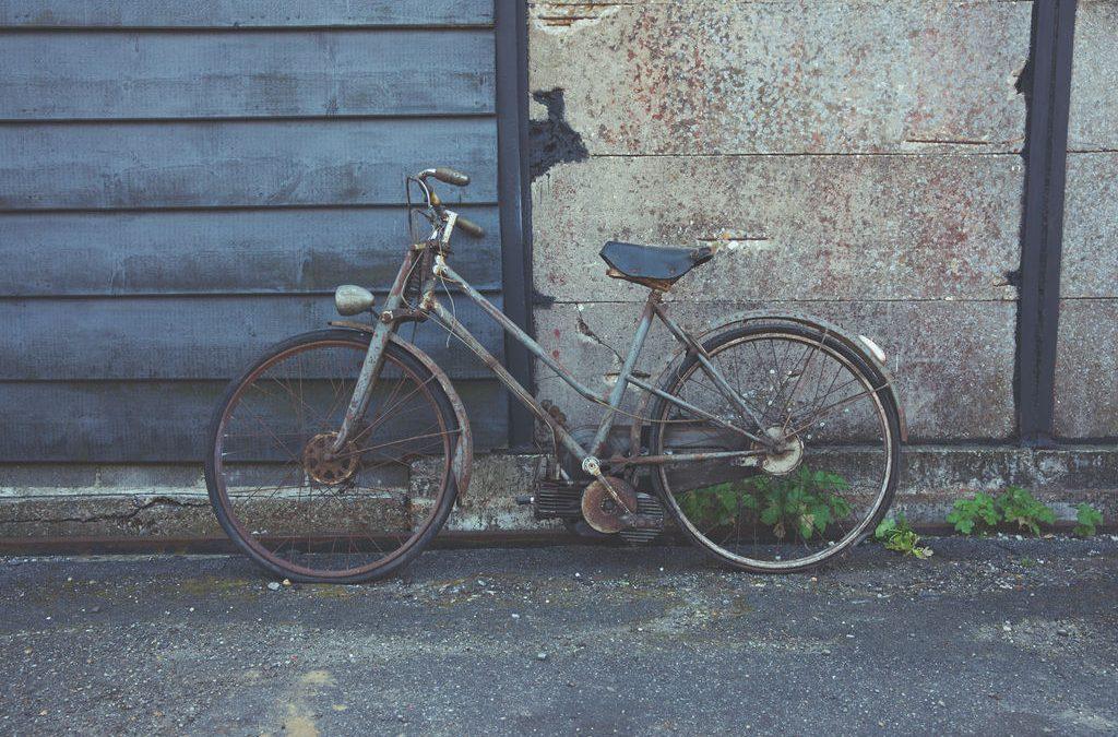 Mosquito hulpmotor op bianchi fiets +/- 1951